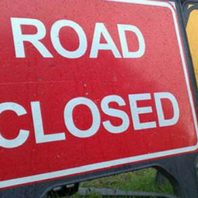 Road Closed Diversion Sign